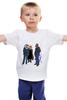 "Детская футболка ""деловые мужчины"" - лис, fox, animals, акула, shark, well dressed, business men"