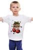 """Детская футболка классическая унисекс """"Cherry Bomb"""" - майка, авторские майки, tattoo, old school, cherry, bomb, shapdesign, вишенки"""