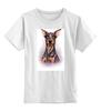 """Детская футболка классическая унисекс """"Доберман"""" - иллюстрация, собаки, doberman, доберман"""