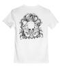 """Детская футболка классическая унисекс """"Череп"""" - череп, ужас, кости, олдскул, тату"""