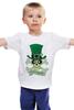 """Детская футболка классическая унисекс """"Настоящий Ирландец (100% Irish)"""" - череп, клевер, патрик, лепрекон, настоящий ирландец"""