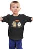 """Детская футболка классическая унисекс """"Totoro x Baymax"""" - тоторо, город героев, big hero 6, baymax"""