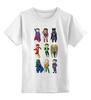 """Детская футболка классическая унисекс """"Лига Правосудия (Justice League)"""" - flash, супермен, молния, бэтмен, лига правосудия"""