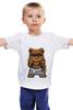 """Детская футболка классическая унисекс """"Swag мишка"""" - мишка, swag, миша"""