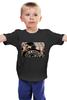 """Детская футболка классическая унисекс """"Sons of Anarchy - black"""" - сериалы, фильмы, байкеры, сыны анархии, черные"""