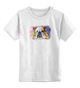 """Детская футболка классическая унисекс """"Бульдог"""" - будьдог, авторсое, арт, собаки, bulldog"""