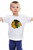 "Детская футболка классическая унисекс ""индеец"" - индеец, native american"