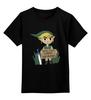 "Детская футболка классическая унисекс ""will cut grass for rupees"" - nintendo, the legend of zelda, rupees, миямото"