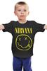 """Детская футболка классическая унисекс """"Нирвана """" - grunge, гранж, nirvana, kurt cobain, альтернативный рок"""