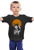 """Детская футболка классическая унисекс """"Геометрический Волк"""" - фигуры, геометрия, волк, wolf, пространство"""