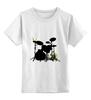 """Детская футболка классическая унисекс """"граф"""" - прикольные, барабаны, ударная установка"""