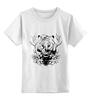 """Детская футболка классическая унисекс """"Тигриный глаз - принт и эскиз татуировки"""" - арт, графика, тигр, иллюстрация"""