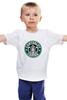 """Детская футболка классическая унисекс """"Canterlot Coffee (Starbucks x Luna)"""" - mlp, my little pony, princess luna, кофе, coffee"""