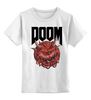 """Детская футболка классическая унисекс """"Doom game """" - games, игра, game, doom, 90's, video games, дум, игы"""