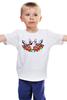 """Детская футболка классическая унисекс """"Петя Буль"""" - dog, пес, розы, бультерьер, бомба, гранат, tm kiseleva, bull terrier"""