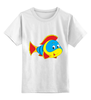 """Детская футболка классическая унисекс """"Рыбка 3"""" - море, рисунок, рыбки, тропики"""