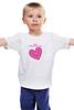 """Детская футболка """"""""LOVE"""""""" - праздник, день святого валентина, 14-февраля, розовое сердце"""