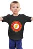 """Детская футболка классическая унисекс """"The Flash"""" - flash, супергерои, молния, dc комиксы, флэш"""