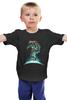 """Детская футболка классическая унисекс """"Космонавт на Скейте"""" - скейтборд, skate, space, космос, день космонавтики"""