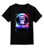 """Детская футболка классическая унисекс """"Обезьяна космонавт"""" - космос, абстракция, обезьяна, monkey, космонавт"""