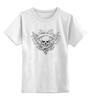"""Детская футболка классическая унисекс """"Череп"""" - музыка, череп, арт, модно, узор, рок, ужас, кости, орнамент, тату"""