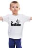 """Детская футболка классическая унисекс """"The Best Father, Лучший отец"""" - папа, отец, godfather, батя, папаня"""