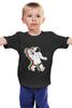 """Детская футболка классическая унисекс """"Музыкальный астронафт"""" - музыка, арт, music, плеер, рисунок, космос, astronaut, радио, radio, астронафт"""