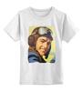 """Детская футболка классическая унисекс """"летчик"""" - ретро, летчик, победа, история, wwii, pilot, авия, air force"""