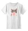 """Детская футболка классическая унисекс """"Забавная кошка"""" - модно, кошки, casual, bubble gum"""