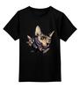 """Детская футболка классическая унисекс """"Mr. Cox лонг"""" - кот, бабочка, cat, кокс, сфинкс, sphynx, tm kiseleva"""