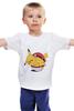 """Детская футболка классическая унисекс """"Fat Pikachu"""" - pokemon, покемон, пикачу, обжорство"""