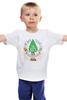 """Детская футболка классическая унисекс """"Не для тебя в лесу ёлочка росла! (Color)"""" - happy new year, новый год, winter, зима, дом, семья, снег, барашек, баран, подарки"""