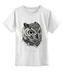 """Детская футболка классическая унисекс """"Монохромная сова"""" - owl"""