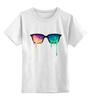 """Детская футболка классическая унисекс """"Очки Психоделики"""" - lsd, лсд, nerd, очки психоделики"""