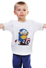 "Детская футболка ""супер миньён"" - капитан америка, captain america, minion, миньён"
