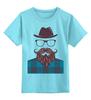 """Детская футболка классическая унисекс """"Мой мачо..."""" - идеал, мужчина, борода, мачо, усы"""