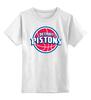 """Детская футболка классическая унисекс """"Detroit Pistons"""" - баскетбол, nba, detroit, нба, детройт пистонс"""