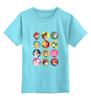 """Детская футболка классическая унисекс """"Все герои Nintendo!"""" - nintendo, mario, pikachu, yoshi, zelda"""