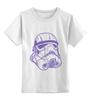 """Детская футболка классическая унисекс """"Штурмовик """" - космос, star wars, шлем, stormtrooper, десант, штурмовик, стар варс, звёздные воины, воины, штурмовики"""