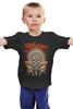 """Детская футболка классическая унисекс """"Skull Art"""" - skull, дизайн, индеец, bones, череп и кости"""