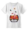 "Детская футболка классическая унисекс ""Гриб из Марио (Тетрис)"" - гриб, mario, марио, tetris, тетрис"