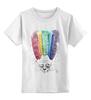 """Детская футболка классическая унисекс """"мыслю позитивно"""" - авторские майки, девушке, выделись из толпы"""