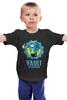"""Детская футболка """"Fallout x Borderlands"""" - fallout, vault-tec, убежище, пограничье, выпадение радиоактивных осадков"""