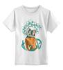 """Детская футболка классическая унисекс """"Космос внутри Нас"""" - арт, космонавт, космос, океан, рисунок"""