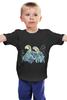 """Детская футболка классическая унисекс """"Влюбленные попугайчики"""" - любовь, птицы, иллюстрация, нежность"""