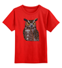 """Детская футболка классическая унисекс """"Филин"""" - owl, птицы, сова, узоры, филин"""