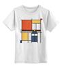 "Детская футболка классическая унисекс ""Мондриан"" - арт, доктор кто, мондриан, тардис, mondrian"