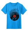 """Детская футболка классическая унисекс """"Виниловая пластинка"""" - арт, винил, ноты, vinyl, грампластинка"""