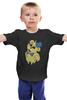 """Детская футболка """"Golden Freddy"""" - пять ночей у фредди, five nights at freddy's, жёлтый медведь"""