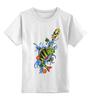 """Детская футболка классическая унисекс """"окунь"""" - еда, рыбы, рыбалка, уха"""